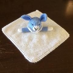 Boris Bunny - Knitted baby blankie.