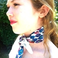Silk scarf with violets