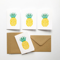 Mini Gift Card Pack and Envelopes, Geometric Pineapple Cards, GC04