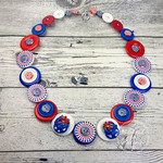 Aussie Thongs - Button Necklace - Button Earrings
