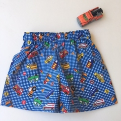 """Size 6 to 9 Months """"Multi Vehicles"""" Shorts"""