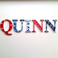 Name Plaque for Wall or Door.  9cm. 5 Letters.