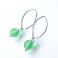 Honeypot green glass and sterling silver dangle earrings