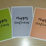Set 3 Male Happy Birthday cards