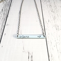 Personalised Hand Stamped Name Bar Pendant