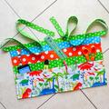 Preschool teacher utility vendor craft daycare lined half apron with 6 pockets