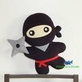 Ninja Pillow Plush Toy Softie Home Decor Nursery