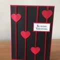 Valentines Day card, be mine valentine Card,  heart card