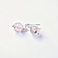Rose Quartz & Sterling Silver Drop Earrings