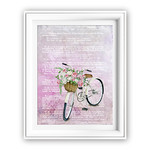 French Dictionary White Bike