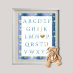 Sky Blue Alphabet_I love you