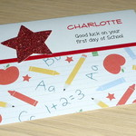 First day of school card - personalised