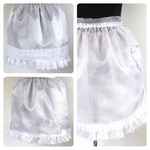 Entertaining crystal organza half apron
