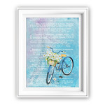 French Dictionary Blue Bike