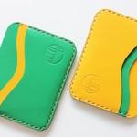 Slim Kangaroo Leather Cards & Cash Sleeve The 'Five' Pocket [2018 Green & Gold]