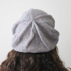 Tweed Wool Beanie Hat Beret