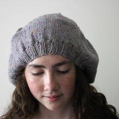 Tweed Wool Beanie Hat Beret