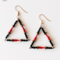 Contemporary Red, Black and Gold Triangle Earrings.