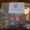 Pink fill with coloured polka dot earrings