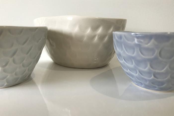 Nest of Bowls - Handmade Ceramic Slip Cast Bowls | stoneware