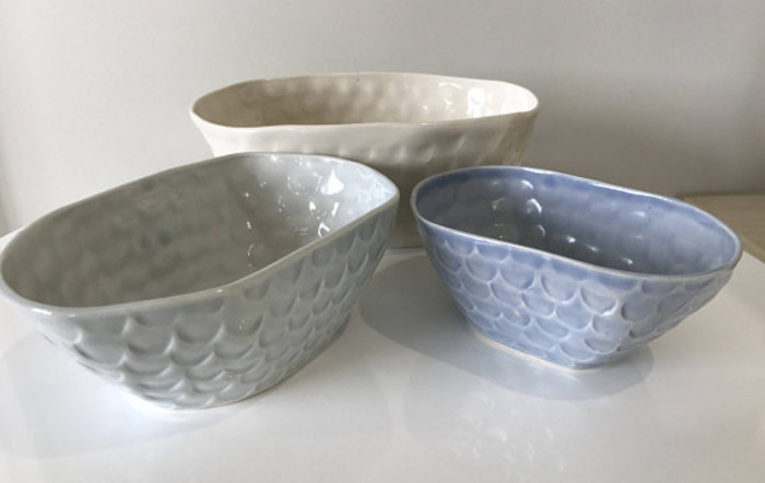 Nest of Bowls - Handmade Ceramic Slip Cast Bowls | stoneware clay