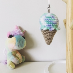 Cute Crochet Ice-cream Keyring