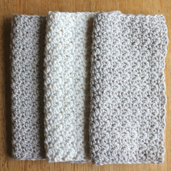 Baby / Washcloth / Spa / Shower / Facecloth / Crochet / Soft / Set of 3