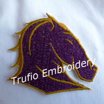 """NRL Broncos"" Inspired Iron-on Badge"