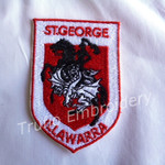 """NRL St George"" Inspired Iron-on Badge"