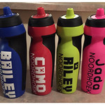 NAME LABEL Vinyl Drink Bottle Label - first and last name - suit NIKE bottles