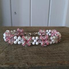 I love you Bracelet, Valentines, Love Bracelet, Bracelets, Pink and White