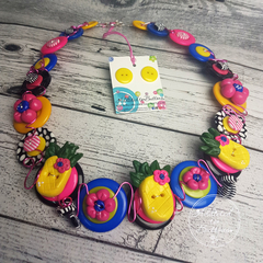 Troppo Pineapples - Necklace Buttons and Polymer - Jewellery - Earrings