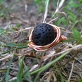Lava Ring,Wire Wrap Ring, Woman's Ring, Boho Gypsy Rings, Oil Diffuser Rings