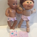 Dolls and Teddies Nappies with Matching Wipes