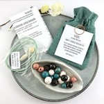 Make it yourself necklace kit-handcrafted polymer clay beads in jewel tones