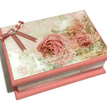 Rambling Rose Keepsake Treasure Trinket Jewellery Memory Wooden Box