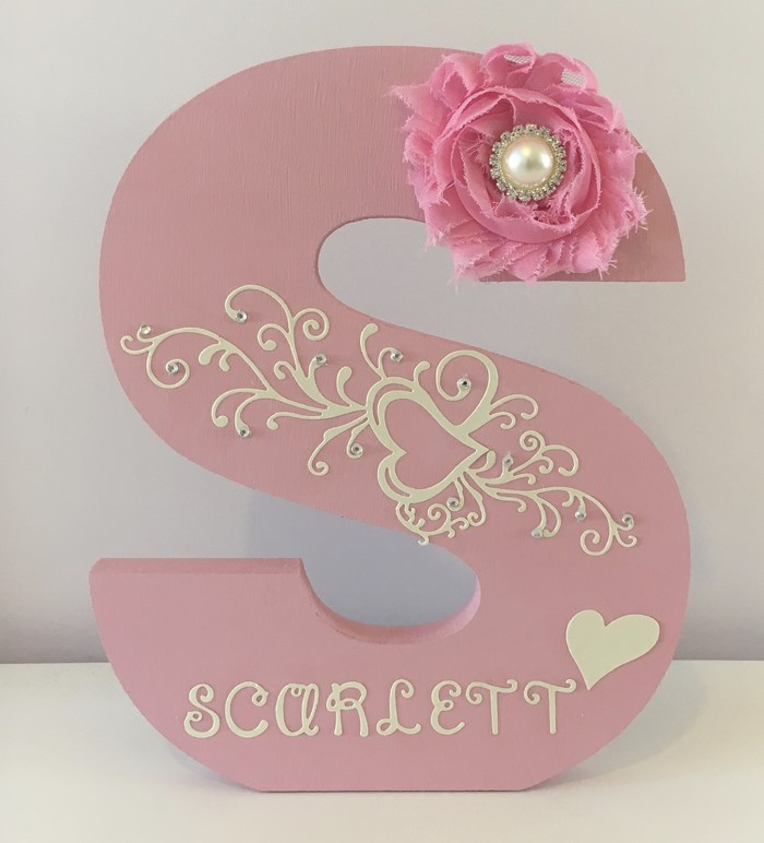 Large wooden decorated letterpersonalised girls name birthday gift large wooden decorated letterpersonalised girls name birthday gift room decor negle Images