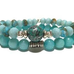 Amazonite Bracelet, Bracelets, Gemstone Healing Bracelet