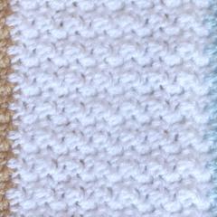 Crochet Baby Blanket in  White, Duck Egg Blue and Light Caramel.  So soft!