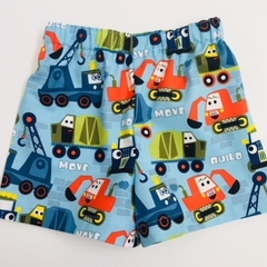 "Size 1, 2 and 3 ""Wheels on the Move"" shorts"