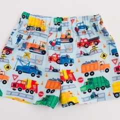 "Size 6 to 9 Months  ""Trucks"" Shorts"