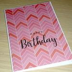 Birthday card - pink chevron