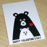 Valentines Day card- 2 bears