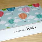 Birthday card - Hot Air balloons