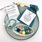 Make it yourself necklace kit-handcrafted polymer clay beads in turquoise