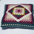 Crochet Psychedelic Pillow