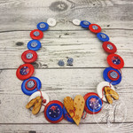 Australian Pride - Aussie Flag - Button Jewellery - Earrings - Necklace