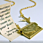 Letter Locket Friendship Necklace Envelope Necklace, Winnie the Pooh Necklace