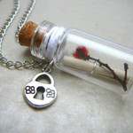 Friendship Gift for Women, Message in a Bottle Necklace, Glass Bottle Necklace