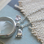 New Mom Jewelry, Mom Necklace, Floating Locket Baby Keepsake, Baby Boy Gift